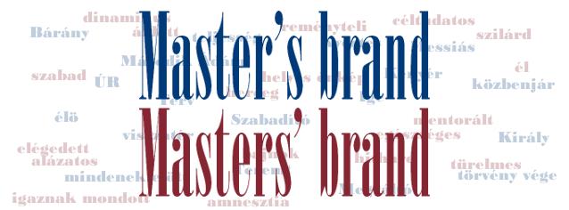 Master's brand & Masters' brand
